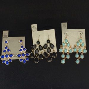 Accessories - 3 pair earrings never used NWT